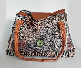 Schultertasche Tiger Unikat Handmade