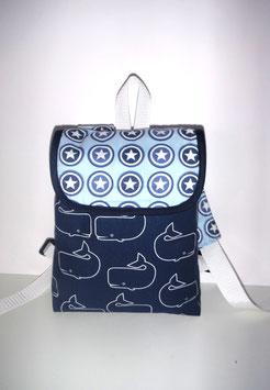 Kleinkinderrucksack Wal//personalisiert