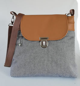 Umhängetasche Stripes Handmade
