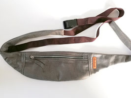 Crossbody-Bag, Hüfttasche, grau Antik, Handmade