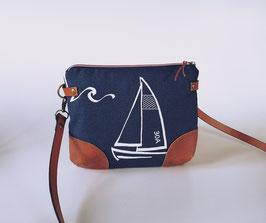 Beuteltasche Sailing, Umhängetasche, Handmade