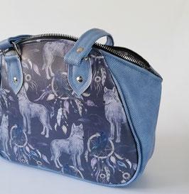 Große Damentasche Gothic Wölfe Traumfänger Unikat  Handmade
