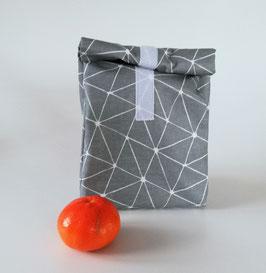 Lunchbag, Pausenbrottasche Geo, Handmade