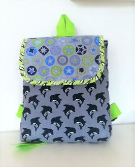 Kindergartenrucksack Blauer Wal//personalisiert