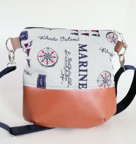 Damentasche Marine//maritime Beuteltasche//Handmade
