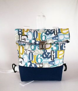 Rucksack, Kindergartentasche ABC, Canvas, Handmade