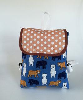 Kleinkinder Rucksack Bär, Kindergartentasche personalisiert, Handmade
