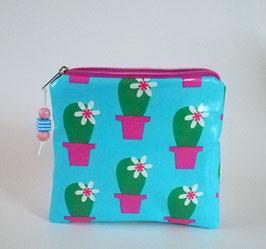 kleine Kulturtasche, Pillentasche Kaktus