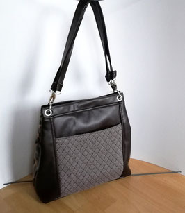 Große Damentasche Metropolita im Materialmix mit modischen Details Handmade