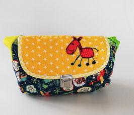 Kindergartentasche, Patchworktasche Esel