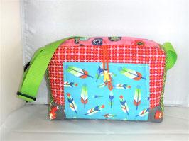 Kindergartentasche, Patchwork Feder