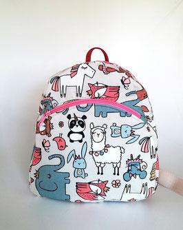 Personalisierten Kinderrucksack mit Tieren