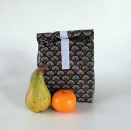 Lunchbag Fächer, mit Lebensmittel geeignetem Innenfutter, Handmade
