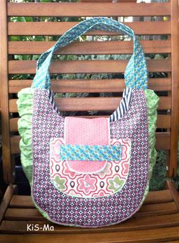 Strand-Tasche Leonie, aufwendig gearbeitete Baumwolltasche, Handmade