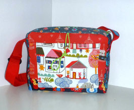 Kindergartentasche, Patchwork Retro
