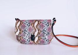 Umhängetasche Eleni -Schlange, Kunstlleder Tasche, Handmade