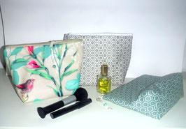 Kosmetiktasche Kulturtasche laminierte Baumwolle