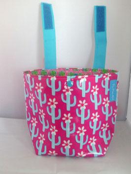 Lenkertasche, Fahrradtasche Kaktus -pink