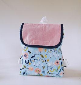 Kinderrucksack Blumenwiese//Kindergartentasche mit Namenskette