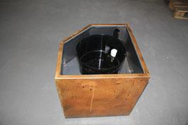CORTen Stahl Pflanztrog Eckstück 585 x 585 x 650 mit Bewässerungssystem
