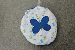 Traubenkernkissen Schmetterling - rund