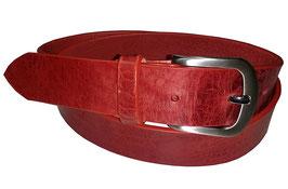 Jeansgürtel 4cm, rot
