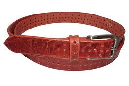 Lochgürtel 3cm, rot