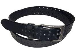 Lochgürtel 3,5cm, schwarz