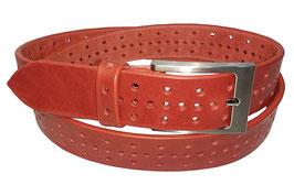 Lochgürtel 3,5cm, rot