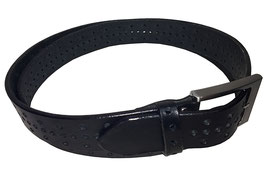 Lochgürtel 3cm, schwarz