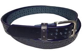 Lochgürtel 3cm, dunkelblau