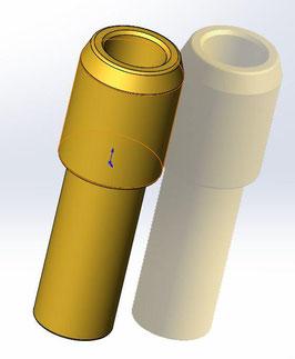 Keihin - Mischrohr aus nitriertem Stahl für 33 und 35 mm Vergaser