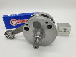 Albero motore -QUATTRINI M200 (Quattrini C200) - volano tondo, corsa 56,5mm, biella 116mm
