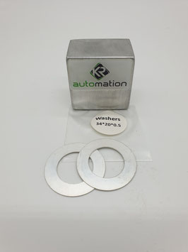 Conrod thrust washer set (2pcs.) SILVER for 20mm crankpins