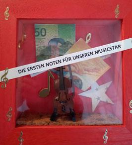 Die ersten Noten für unseren Musicstar Geige