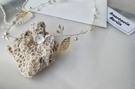 Porzellan Blüten Haarkranz Natalie