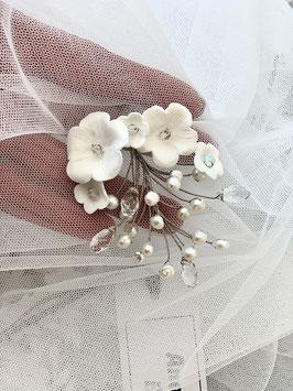 Süßwasser Perlen Porzellan Blüten Zweig Janie