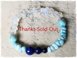 ★Bracelet ~Rainbow Moon Stone / Lapis Lazuli / Larimar