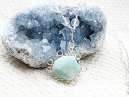 ★Necklace ~ Blue Aragonite Ⅱ