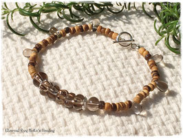 ★Bracelet ~Smoky Quartz / Wood beads