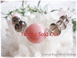★Bracelet ~ Pink Opal/Smoky Quartz/Rose Quartz/Pink Calcite/Girasol Quartz