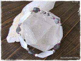 ★Bracelet ~Crystal / Labradorite / Ruby