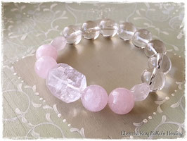 ★Bracelet ~ Kunzite / Morganite / Crystal (from kanchenjunga)