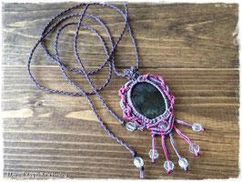 ★Makurame Necklace ~ velvet Obsidian