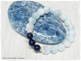 ★Bracelet ~ Ice Larimar & Lapis Lazuli