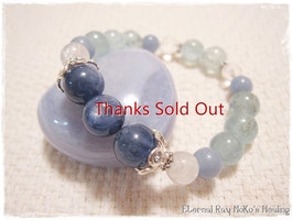 ★Bracelet ~ Kyanite/Aquamarine/Angelite/Rainbow Moonstone