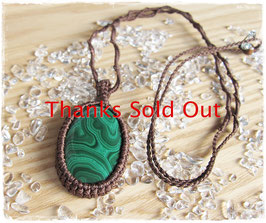 ★Makurame Necklace Malachite ~ etc...
