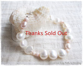 ★Bracelet ~Water Pearl/Queen Conch Shell