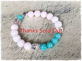 ★Bracelet ~Pink Opal / Amazonite / Star Rose Quartz / Crystal