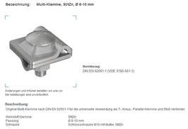 Multi-Klemme Stahl/verzinkt ø 8-10 mm